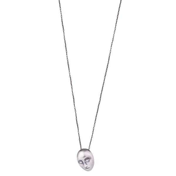 NEW! Grand Grey Lady Cameo Necklace by Hannah Blount