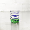 NEW! Wavie Ware Juice Glasses in Multiple Colors by Peàn Doubulyu Glass