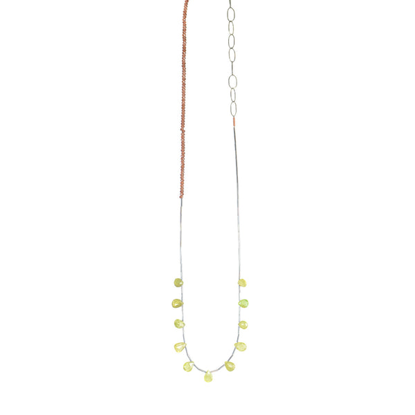 NEW! Green Garnet and Garnet Necklace by Eric Silva