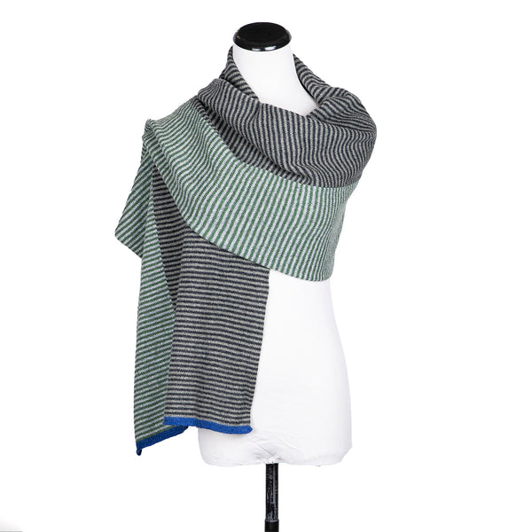 NEW! Wide Horizontal Striped Scarves in Multiple Colors by Katie Mawson