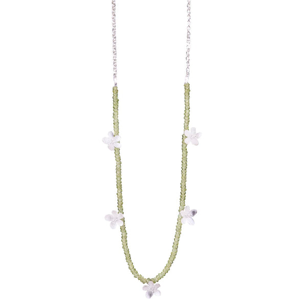 NEW! Apple Blossom Necklace with Peridot by EAM