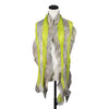 Gauze Vertical Scarf in Lime Grey by Gina Pannorfi