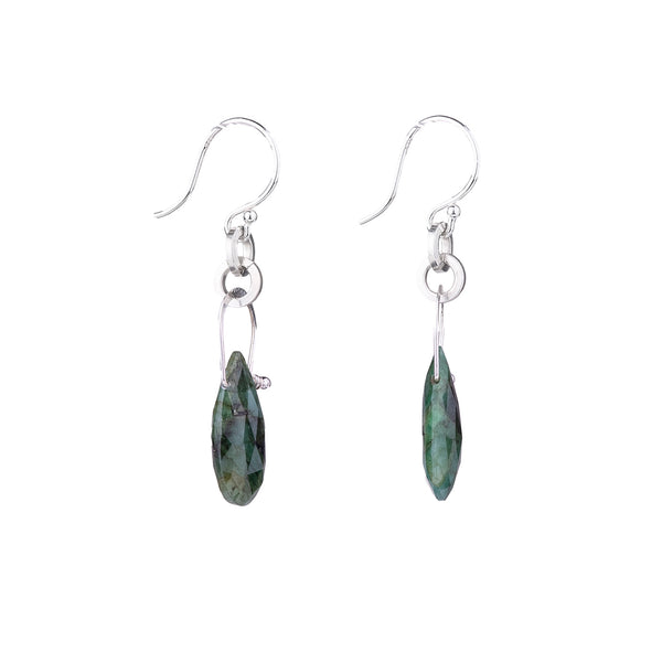 NEW! Stirrup Pear Shaped Emerald Earrings by Serena Kojimoto
