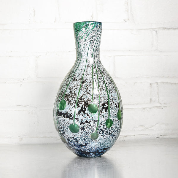 NEW! Green Carved Wide Mouth Vase by Studio Paran