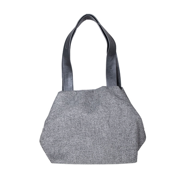 NEW! Small Fabric Cube Bag in Grey by Kisim