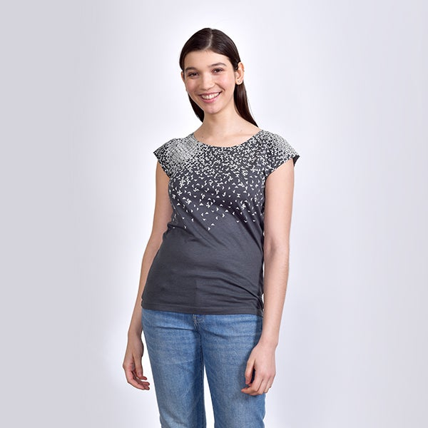 NEW! Grey Pinwheel T-Shirt by Umsteigen
