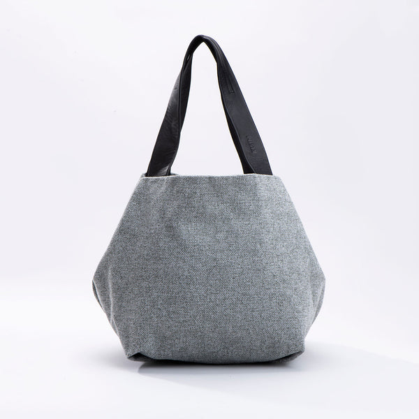 NEW! Medium Fabric Cube Bag in Light Grey by Kisim