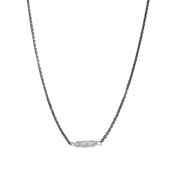 NEW! Slinky Grey Diamond Bar Necklace by Carla Caruso