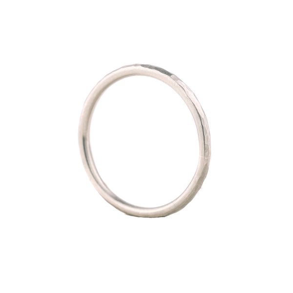 SALE! Facet Hammered Grey Gold Band by EC Design