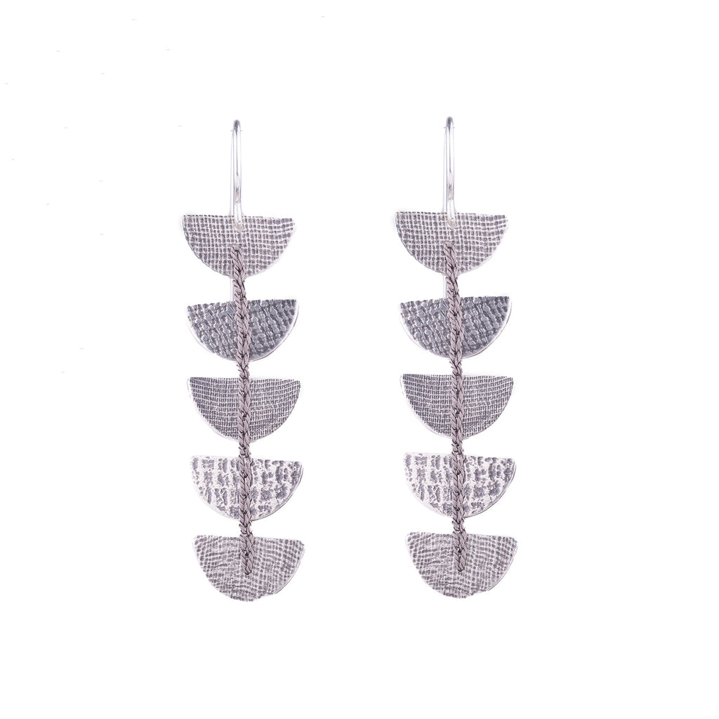 NEW! Grey Semi-Circle Crocheted Earrings by Erica Schlueter