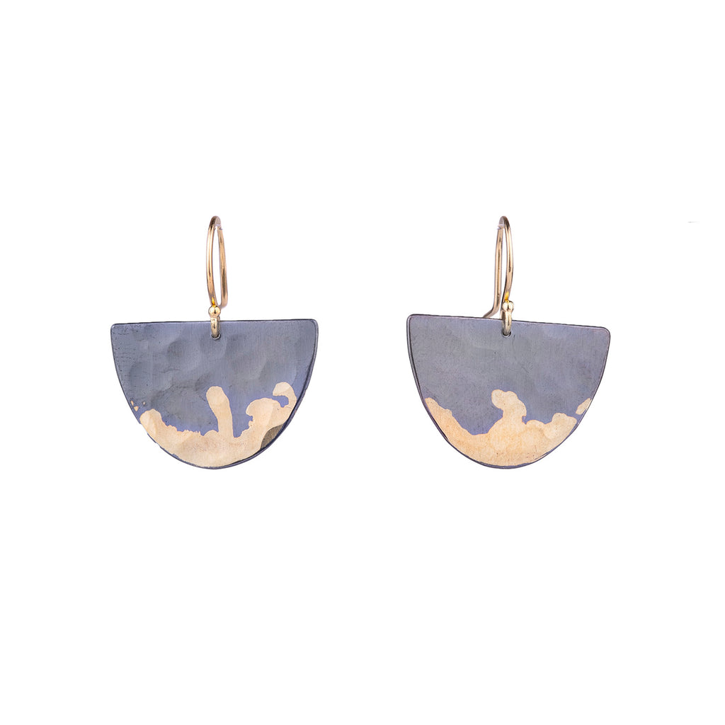 NEW! Gilded Half Moon Earrings by Sarah McGuire