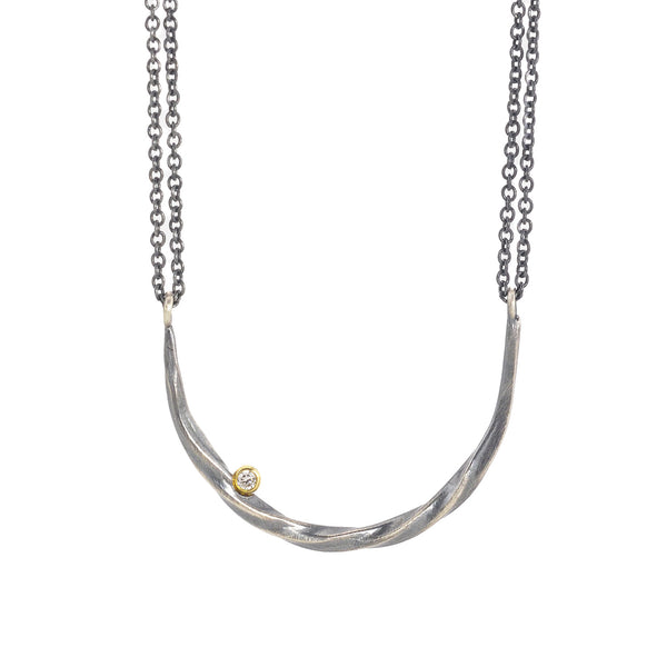 NEW! Bias Half Moon with Diamond Necklace by Sarah McGuire