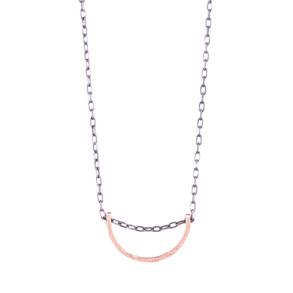 NEW! Pink Gold Half Moon Pendant by EC Design