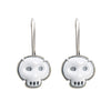 NEW! Enamel White Skull Earrings by Lisa Crowder