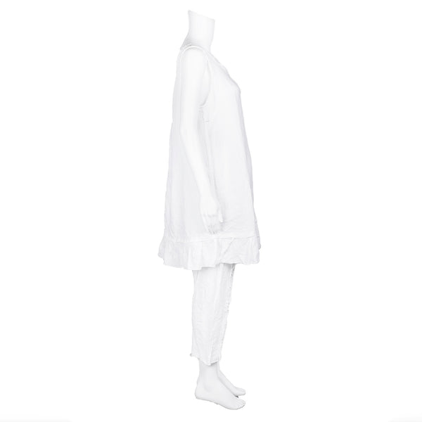 NEW! Harper Tunic in White Linen by Skif