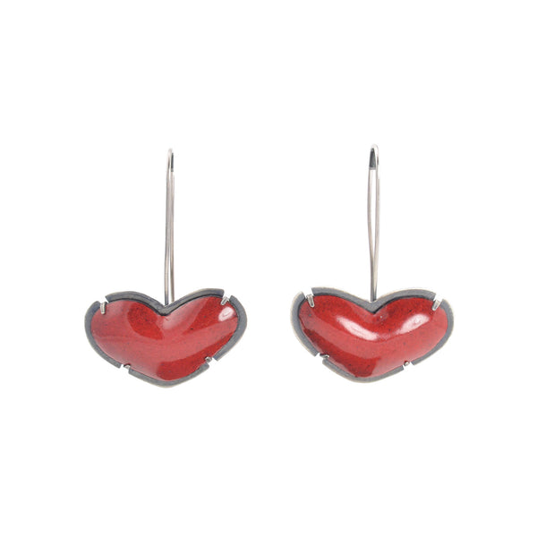 NEW! Enamel Heart Earrings by Lisa Crowder