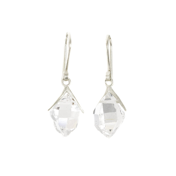 Little Stick and Stones Herkimer Diamond Earrings by Hannah Blount
