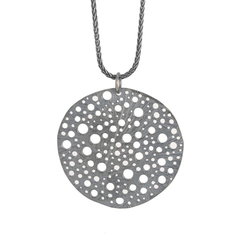 NEW! Oxidized Silver Siv Circle Pendant by Dahlia Kanner