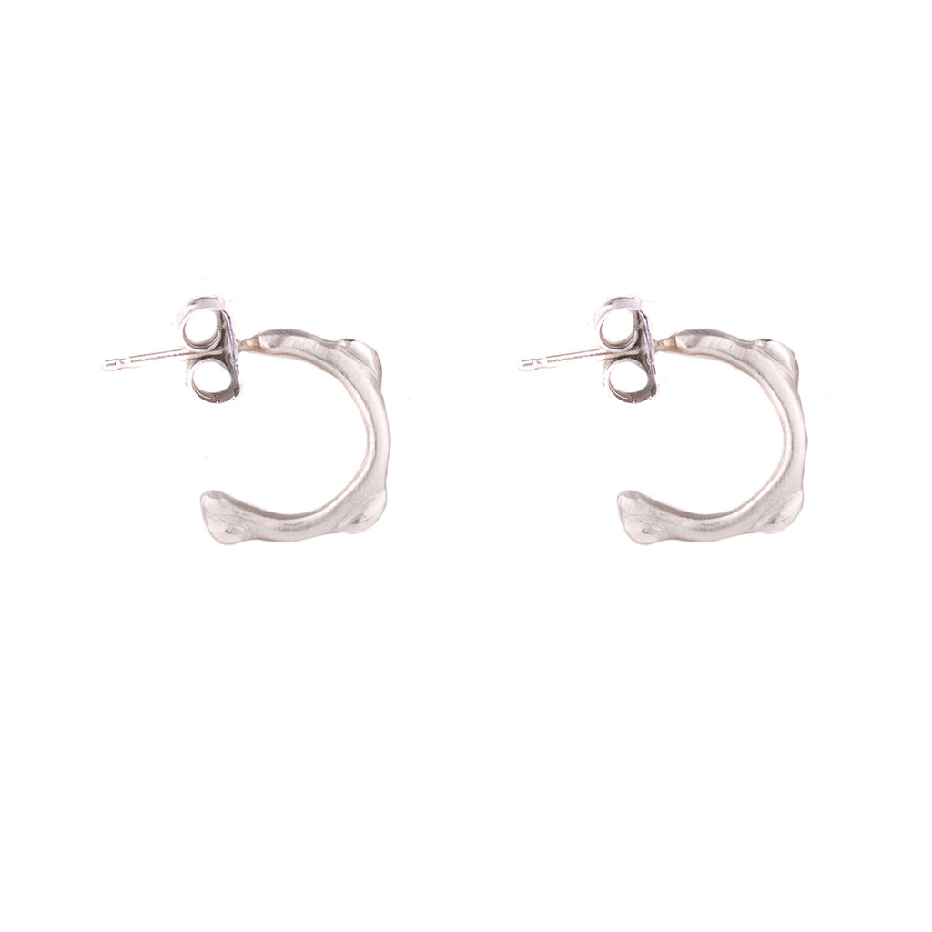 NEW! Huggie Hoops in White Gold by Anne Sportun