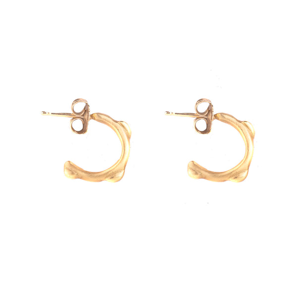 NEW! Huggie Hoops in Yellow Gold by Anne Sportun