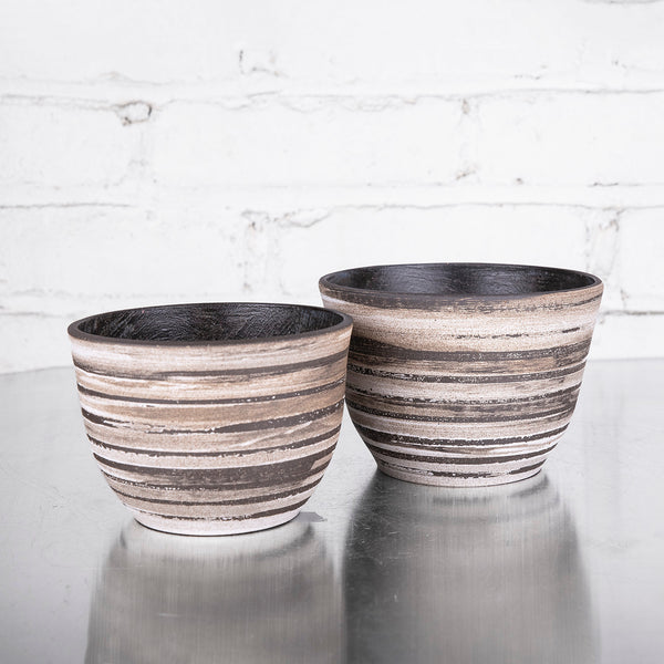 Small Tall Bowls with Wax Resist by SRS Ceramics