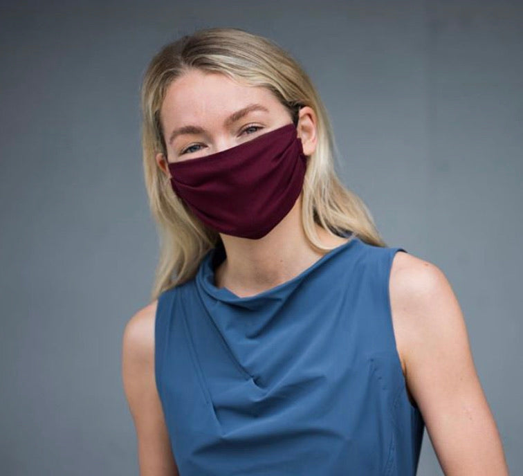 NEW! Porto Cotton Mask in Bordeaux