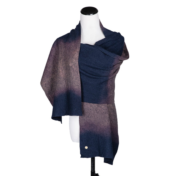 NEW! Blanket Scarf in Indigo Gradient by ARAE