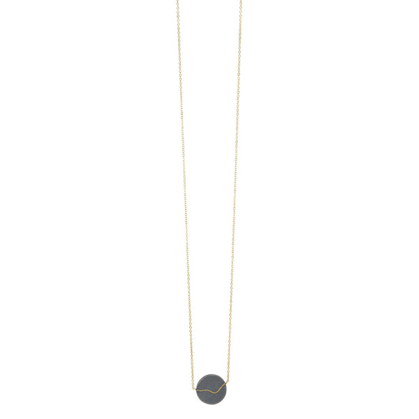 Inlay Coin Necklace in Black by Shaesby