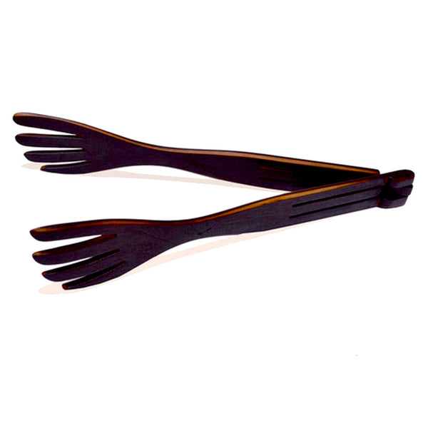 Inside-Out Tongs with Flame Blackened Forks by Jonathan's Spoons - Fire Opal - 2