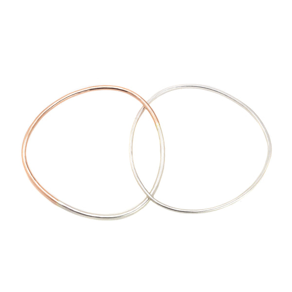 NEW! 2 Loop Two-Toned and Monotone Interlocking Bangles by Colleen Mauer Designs