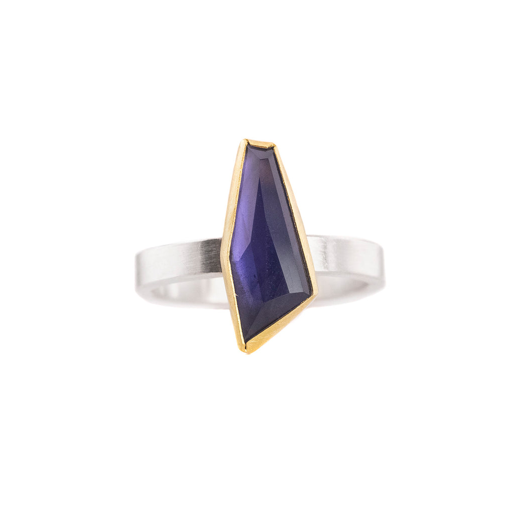NEW! Iolite Geometric Ring by Sam Woehrmann