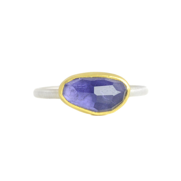 One of a Kind rosecut Blue Iolite Ring by Heather Guidero