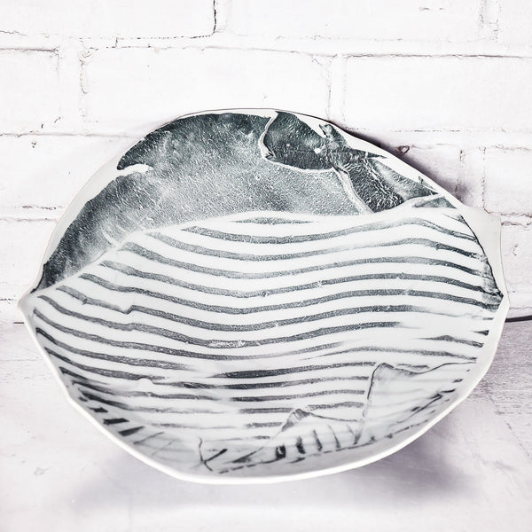 NEW! Large Asymmetrical Striped Bowls by Eric Jensen