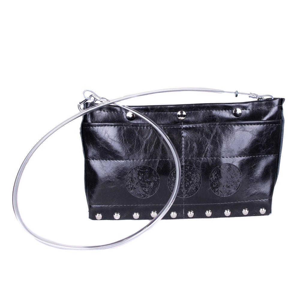 NEW! Journey Circle Bag in Gloss Black/Black Oil by Hardwear by Renee