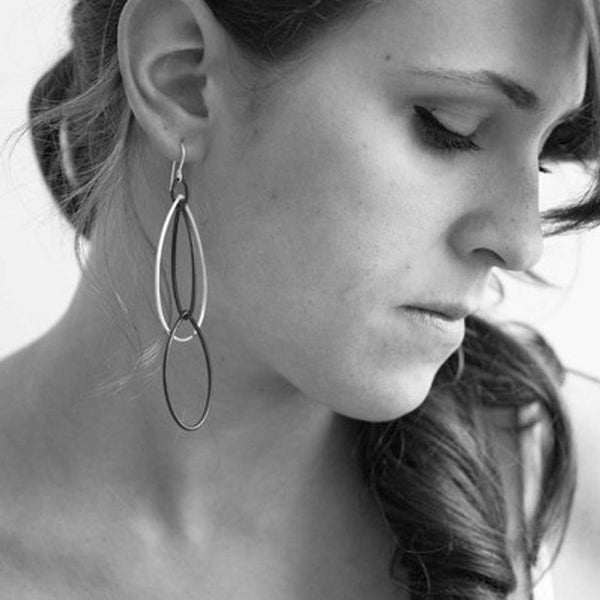 Kathrine Earrings by Megan Auman - Fire Opal - 2