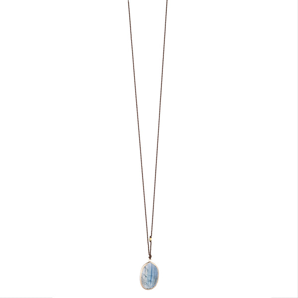 NEW! Kyanite Necklace with 14k Gold by Margaret Solow