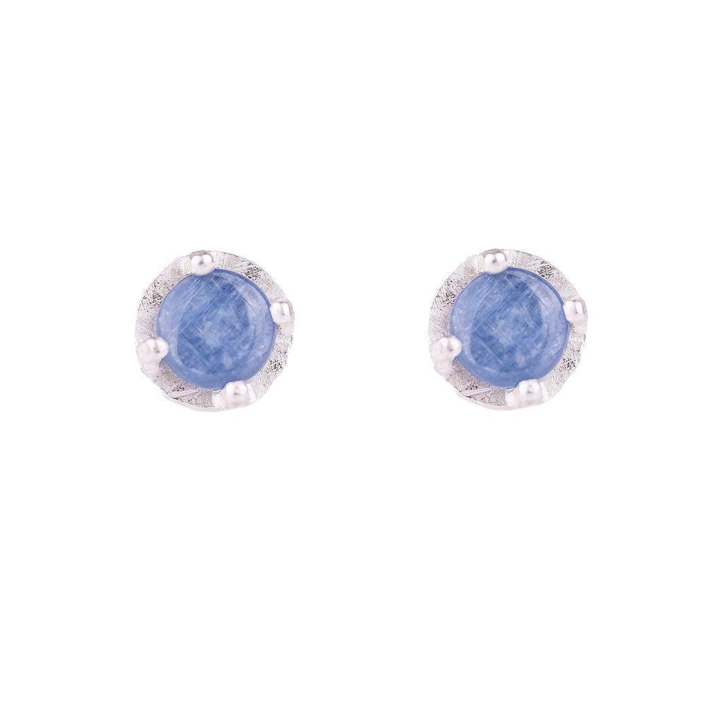 NEW! Carved 6mm Kyanite Studs by Heather Guidero