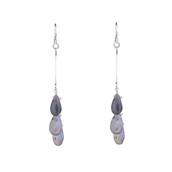 NEW! Labradorite Crescent Earrings by Serena Kojimoto