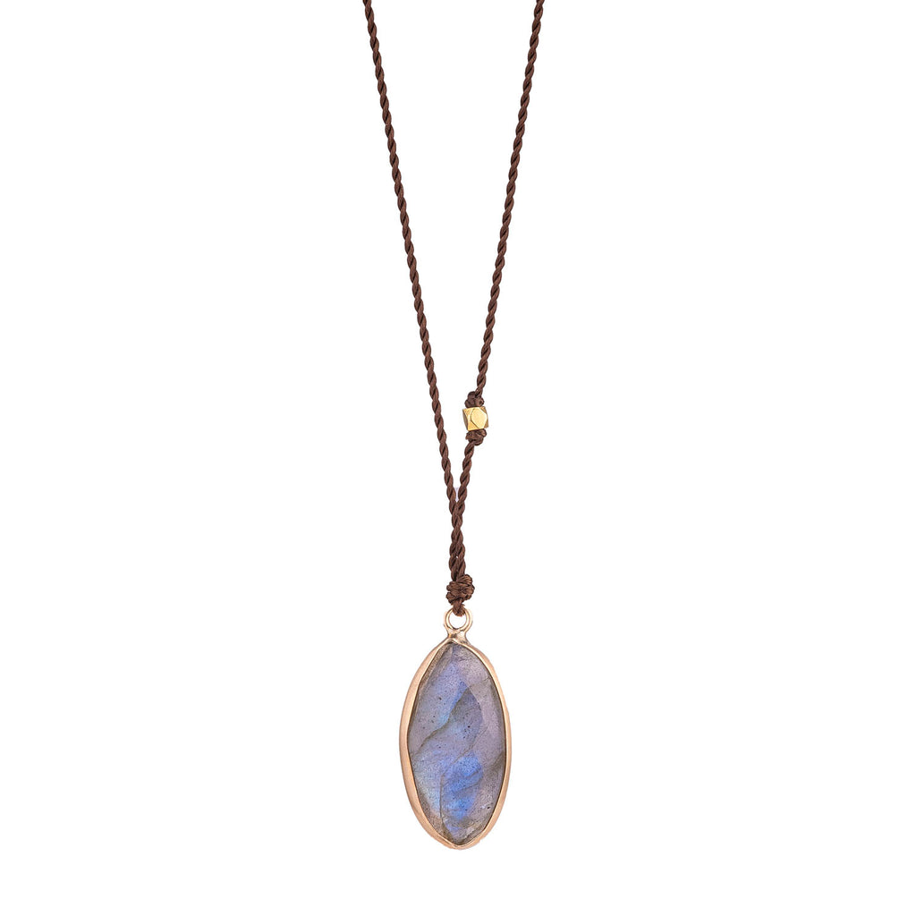 NEW! Labradorite Necklace with 14k Gold by Margaret Solow
