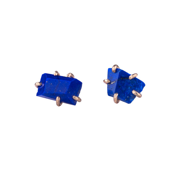 Medium Lapis Stone Studs by Variance Objects