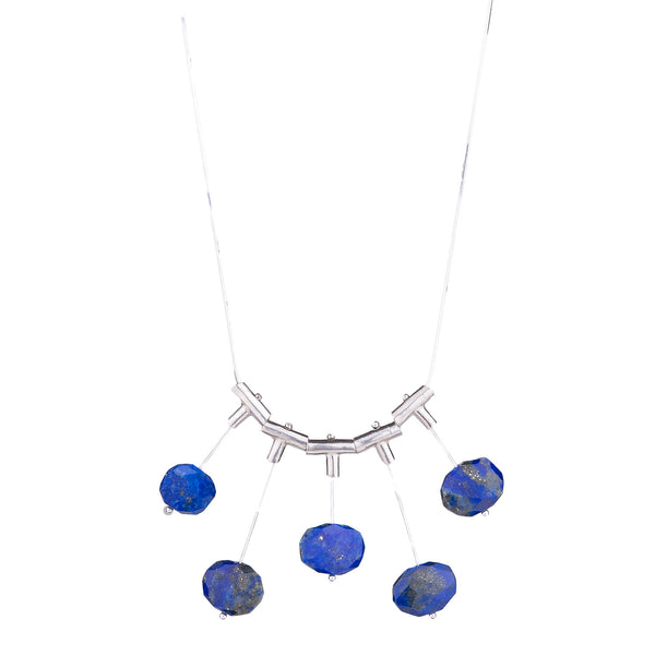 NEW! Up and Down Cross Pivot Lapis Necklace by Serena Kojimoto