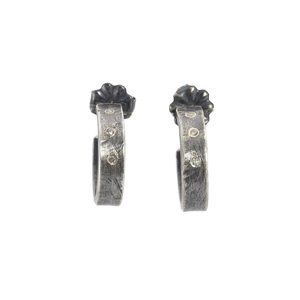 NEW! Large Diamond Hoop Earrings by Sasha Walsh