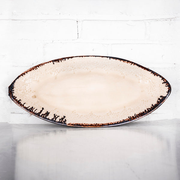 NEW! Large Oval Tray in Parchment by Alice Goldsmith