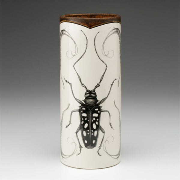 New! Large Long Horn Beetle Vase by Laura Zindel