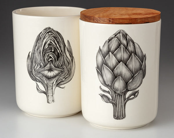 NEW! Artichoke Medium Canister with Lid