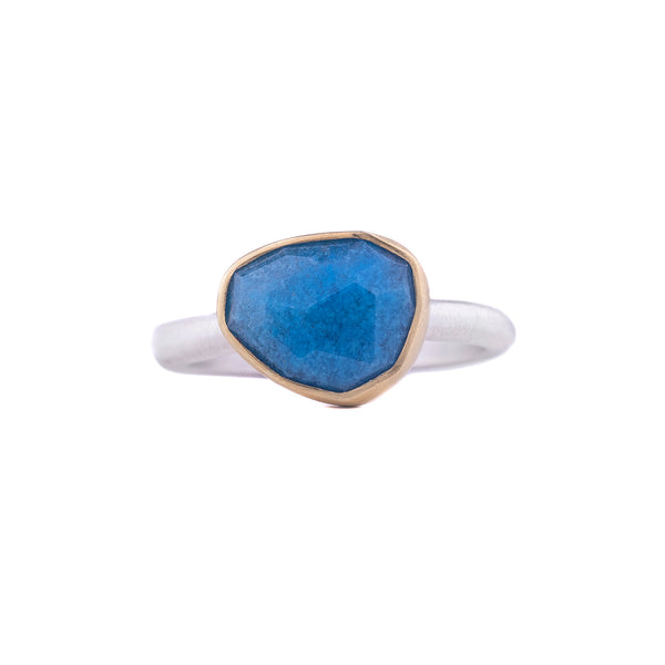 NEW! One of a Kind Rose Cut Lazulite Quartz Ring by Heather Guidero