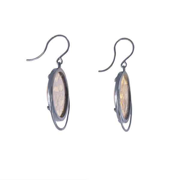 Meye Draped Encasement Earrings by Luana Coonen