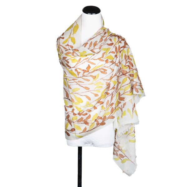 NEW! Handpainted Wool Cashmere Scarf by Yuh Okano