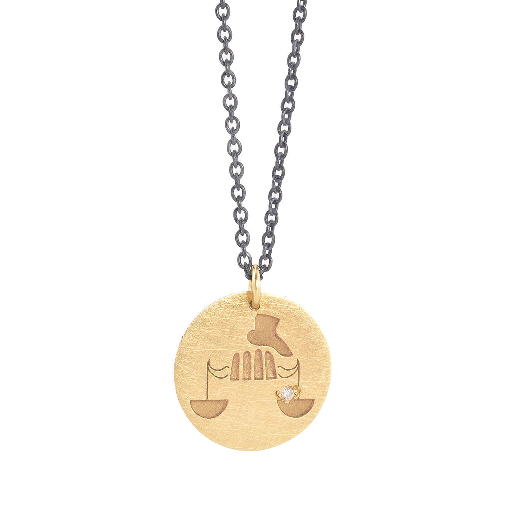 NEW! Libra Zodiac Charm Necklace by Marion Cage