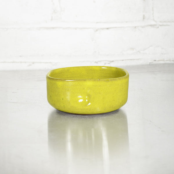 NEW! Squeeze Dessert Bowl in Acid Yellow by Mirena Kim